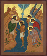 Icon of the Baptism of the Lord (Theophany) - (11C05)