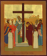 Icon of the Exaltation (Elevation) of the Precious Cross - (11Z12)