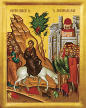 Icon of the Entry into Jerusalem (Palm Sunday) - 20th c. - (11F02)