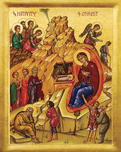 Icon of the Nativity of the Lord (Christmas) - 20th c. - (11A01)