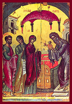 Icon of the Meeting of the Lord - 16th c. Theophan the Cretan - (11B03)