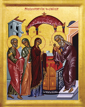 Icon of the Meeting of the Lord - 20th c. - (11B01)