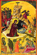 Icon of the Nativity of the Lord (Christmas) - 16th c. Theophan the Cretan - (11A03)