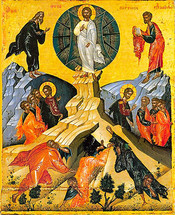 Icon of the Transfiguration - 17th c. Dionysiou Monastery - (11D01)