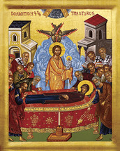 Icon of the Dormition of the Theotokos - 20th c. - (12E04)