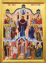 Icon of the Holy Protection - 20th c. English - (12F21)