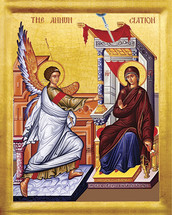 Annunciation Icon- 20th c. - (12D01)