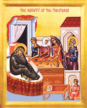 Icon of the Nativity of the Theotokos - 21st c. English - (12B05)