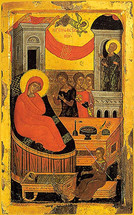 Icon of the Nativity of the Theotokos - 16th c. Cretan - (12B01)