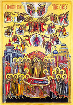 Icon of the Dormition of the Theotokos - 20th c. St. Anthony's Monastery - (12E07)