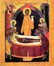 Icon of the Dormition of the Theotokos - 16th c. Novgorod - (12E05)