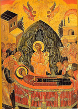 Icon of the Dormition of the Theotokos - 16th c. Cretan - (12E01)