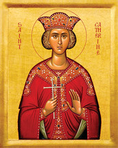 Icon of St. Catherine - 20th c. - (1CA11)