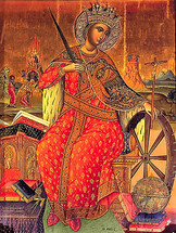 Icon of St. Catherine - 17th c. Mt. Sinai - (1CA13)