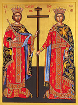 Icon of St. Constantine and Helen - 20th c. St. Anthony's Monastery - (1CH41)