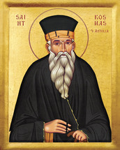 Icon of St. Cosmas of Aitolia - 20th c. - (1CO10)
