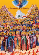 Icon of the Holy Fathers of Crete - 20th c. - (1CF10)