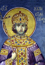 Icon of St. Constantine the Great - 14th c. Panselinos - (1CO21)