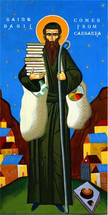 Icon of St. Basil of Caesarea - (1BA13)