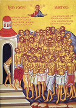 Icon of the Forty Holy Martyrs - 20th c. - (1FO11)