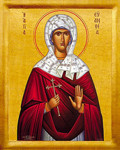 Icon of St. Evanthia - 20th c. - (1EV10)
