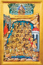 Icon of the Forty Holy Martyrs - 20th c. - (1FO12)