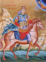 Icon of St. Demetrios the Great-Martyr - (1DE11)