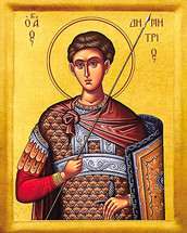 Icon of St. Demetrios - 20th c. - (1DE14)