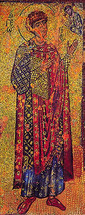 Icon of St. George (mosaic) - 11th c. Xenophontos Monastery - (1GE23)