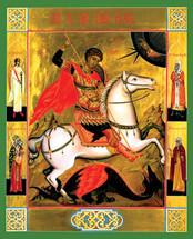 Icon of St. George - 20th c. Tikhomirov - (1GE25)