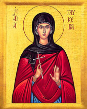 Icon of St. Glykeria - 20th c. - (1GL30)