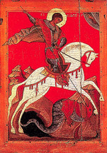 Icon of St. George - 17th c. Novgorod - (1GE21)