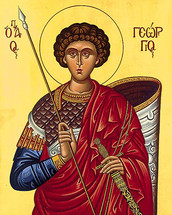 Icon of St. George the Trophy-Bearer - (1GE18)
