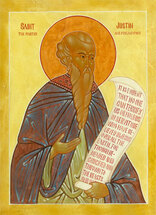 Icon of St. Justin Martyr the Philosopher - 20th c. - (1JU10)