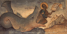 Icon of Jonah and the Whale - 15th c - (1JW10)