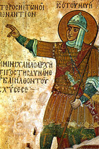Icon of the Righteous Joshua the son of Nun - 13th c. - (1JO31)