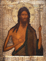 Icon of St. John the Baptist - 16th c. Russia - (1JB13)