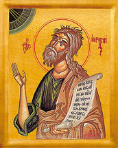 Icon of the Prophet Jeremiah - 20th c. - (1JE10)