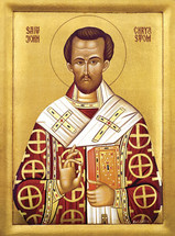 Icon of St. John Chrysostom - 20th c. - (1JC11)