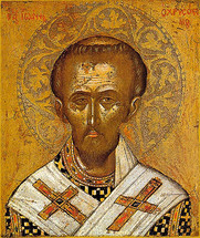 Icon of St. John Chrysostom - 16th c. Cretan - (1JC10)