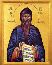 Icon of St. Maximos the Hut-Burner - 20th c. - (1MA82)