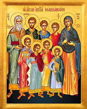 Icon of The Holy Seven Maccabean Martyrs - (1MA02)