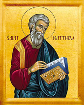 Icon of the Apostle Matthew the Evangelist - English - (1MA21)
