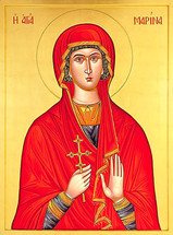 Icon of St. Marina - Byzantine (1MA42)