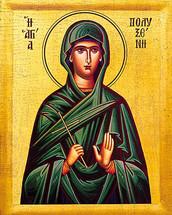 Icon of St. Polyxeni - 20th c. - (1PO10)