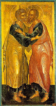 Icon of the Apostles Peter & Paul - 15th c. Cretan - (1PP10)