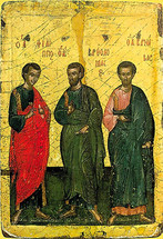 Icon of the Apostles Philip, Bartholomew & Barnabas - (1PB10)