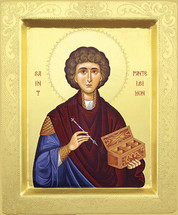 Icon of St. Panteleimon - 20th c. - (1PA13)