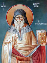 Icon of Saint Porphyrios of Kavsokalivia (fresco) - (1PO11)