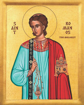 Icon of St. Romanos Melodist - 20th c. - (1RO10)
